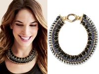 2014 new female models hand-woven alloy necklace big choker necklace Neck necklace European and American big scarf collar
