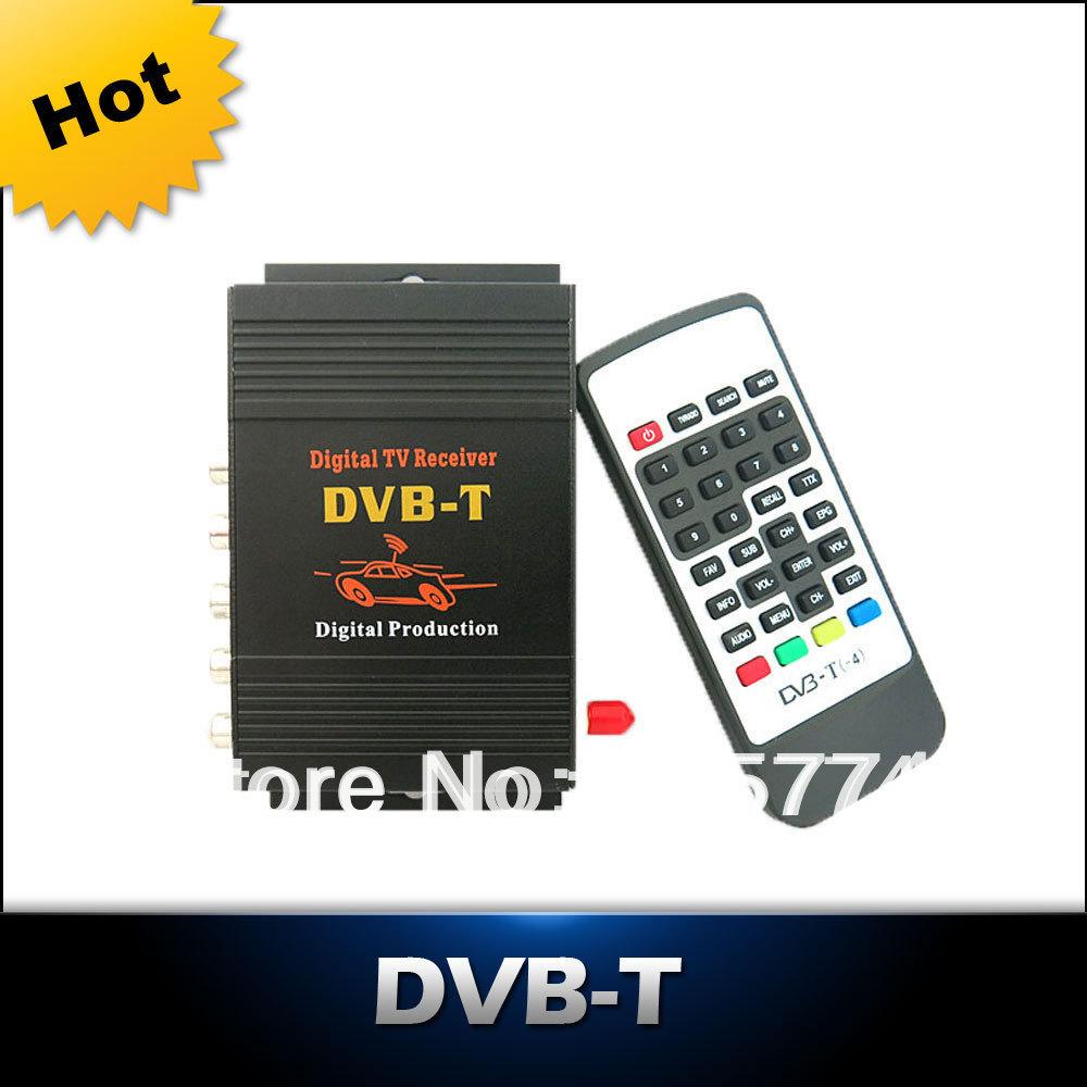 Car DVB-T MPEG-4 HD tuner Digital TV BOX receiver box Single Antenna for European Free shipping