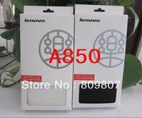 Mobile  Lenovo leather flip case for lenovo A850  free shipping