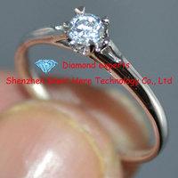 0.15ct Moissanite Ring! Solid 14k White gold with Lab Grown Moissanite Diamond Ring for Wedding Engagement Ring,for women's ring