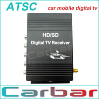 Car Mobilbe ATSC-T HD dual Digital TV receiver Car Digital TV Tunner Special for American Market