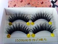HARAJUKU false eyelashes dishevelling dense cross transparent long design thick eyelash Free shipping