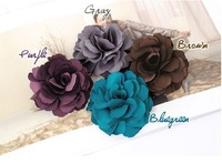 new 2014 Free Shipping Camelia flower hair clip,fabric flower brooch, hair accessory,Colorful Camellia Hair ring,Headdress