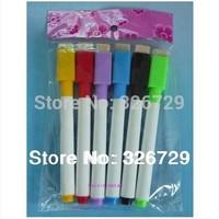 freeshipping 6 color * 2 sets A far oily hook line single fine tip marker pen pen children Shuangbi bulk deals whiteboard pen