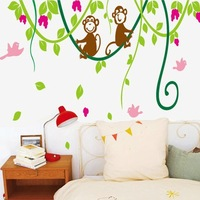 Free shipping !!! cartoon wall sticker animals monkey wall decal kids room wall decoration