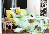 Good quality & Promotion ! 100% Cotton Fashion  print 4pcs  bedding sets