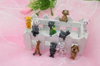 12pcs cute 1.5' soft TPR cartoon figurines family