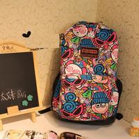 18 models , new arrival ,HARAJUKU cartoon backpack school bag, high quality ,free shipping USD18.99