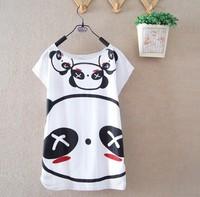2014 summer Plus bear japan korea style batwing short sleeve T- shirt women print T shirt top clothes star Free shipping