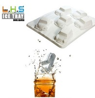 2014 car Shape ice mold 6 form Freeze ice Cube tray ,Bar party Lego Romantic cocktail party for Drink ice new tricks Maker