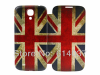 Retro UK flag Printed Leather PU Flip Smart Battery Case Cover For Samsung Galaxy S IV S4 i9500