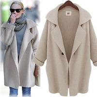 2014 Peter Pan Collar Long Casual Loose Women's Sweater Long Sleeve Cardigan Coat Large Size Women's Sweater Outwear