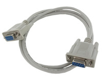 9-pin serial cable crossover crossover cable DB9 female to female - hole RS232 COM cable 1.5 m