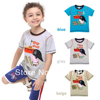 2014 Summer NOVA Brand Peppa Pig Cartoon Cotton Shorts Sleeve Children Kid Toddler Baby Boy Girl T shirt Polo Clothes Apparel