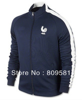new French Jacket Sapphire blue 2013/14 Thailand quality France World Cup Jacket Home soccer Jacket embroidery Size: S - XL