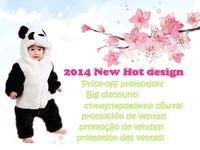 2014 New Baby romper/ Baby panda ha leotard / Baby animal modeling cartoon romper/ Autumn Winter rompers