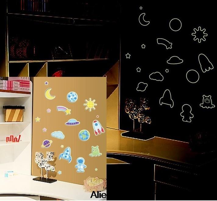 Online kopen wholesale planeet sticker uit china planeet sticker groothandel - Muur kamer meisje ...
