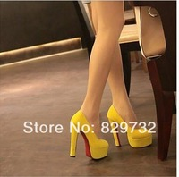 Free shipping 2014 Princess women pumps women sexy single shoes thick heel high-heeled shoes platform shoes