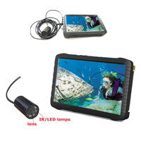Express Free shipping Waterproof camera HD monitor for chimney cleanning/fish finding/underwater study
