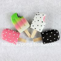 Min. order is $15 (mix order) Mini  ice cream forzando resin colored drawing refrigerator stickers
