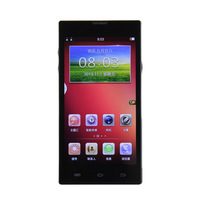 """NEW 2014 Q5000 MTK6582 Quad Core Phone 1.3GHz Android 4.2 5.0"""" IPS HD Capacitive Screen RAM 1G ROM 8G GPS 3G Cell Phone Black"""