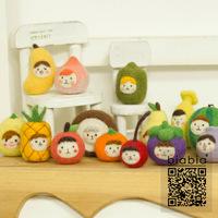 Biabia poke fun wool felt diy material handmade materials kit dolls fruit series