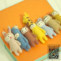 Biabia poke fun wool felt diy material handmade materials kit dolls zoo
