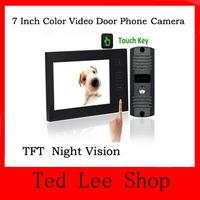 "New 7"" TFT LCD Touch Screen Color Video Door Phone Intercom system Night Vision doorphone Camera digital peephole door viewer"