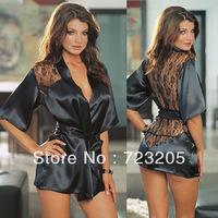 Promotion!! Plus Size XXL XXXL Fashion Lingerie Hot Selling Women Exotic Apparel Black Lace Print Pajamas Sexy Lingerie Costume