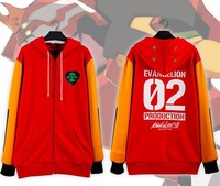 New anime Neon Genesis Evangelion Cosplay sweatshirt EVA02 PRODUCTION hoodie costume S-XXXL