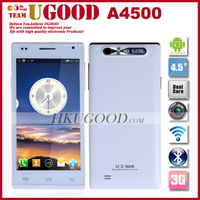 "New Arrival Star A4500 Smart Mobile Phone MTK6572 1.3GHz Dual Core Android 4.2 OS 512MB RAM 4GB ROM 4.5"" QHD IPS 5.0MP Camera"