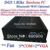 Barebone PC Computer Mini Cloud Terminal Server with 2 VGA Intel Atom D425 single-core processor 1.8Ghz with GMA3150 graphics
