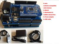 Bluetooth 4.0 Cduino Shield Extension Board phone Bluetooth UNO R3 BLE BT Atmega328P Diy Robot Car Chassis Crawler Pedophilic