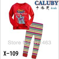 2014 spring baby boys girls unisex long sleeve clothing set / kids loungewear / children spring autumn pajamas