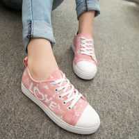 2014 doodle skateboarding shoes sport shoes casual athletic shoes breathable lingerie shoes lazy female