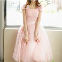 2014 married evening dress pink princess long design formal dress female spring banquet evening dress formal dress
