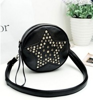 New Five Stars Of Diamond Women Messenger Bags Lovely Stitching Wwomen Leather Handbags Campus Girl Leather Bags