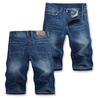 Summer fashion leisure straight jeans wholesale men's 5 minutes of shorts, Men Fishion Shorts,