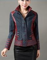 Free shipping spring 2014 new fashion leather jacket women plus size M-5XL fashion women 2014 clothes women leather clothing