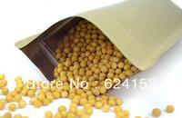 Food kraft paper zipper bag with Aluminum foil laminated 15x24cm 0.28mm thick moisture proof bags 100pcs/lot