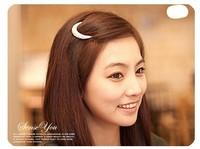 Min.order is $10(mix order) Crystal Moon Rhinestone Hair Clip Bang Clip Headdress Hairpin Clamps New