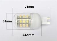 G9 48 lamp led smd 220lm , high power lamp light bulb 220v-240v belt lamp cover