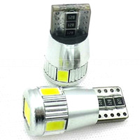 Free Shipping T10 5630 Canbus 6 SMD chip high bright Car LED Bulb auto Interior Lighting+ Canbus NO OBC + Aluminum cover+12v-24v