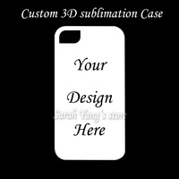 Free Shipping ! 20pcs/lot Customized Designs 3d sublimation Printing Phone Case for iphone 4/4s