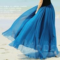 Drop Shipping Long Skirts 13 Colors Bohemian Women's Clothes Chiffon Maxi Skirt Long To Floor spring summer women fashion 2014