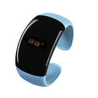 NEW vibrating bluetooth bracelet with caller id and phone number answer call stereo bluetooth WT-19 free shipping