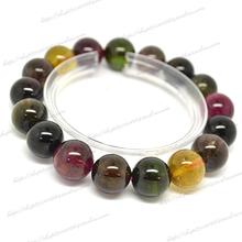 Natural crystal bracelet natural brazil tourmaline bracelet lucky(China (Mainland))