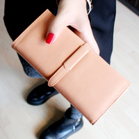 Wallet classic vintage leather drawstring type multifunctional women's long design wallet