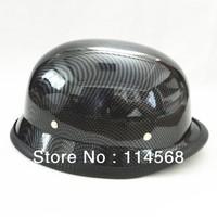 Free Shipping CHROME MIRROR German military helmet DOT Approved open face Motorcycle helmet Chopper Cruiser helmets