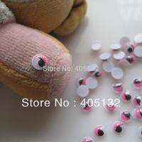 RC-180-3 200pcs/bag Cute 6mm Pink Eye Resin Decoration Nail Art Decorations